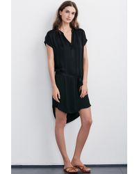 Velvet By Graham & Spencer Black Brie Satin Dress