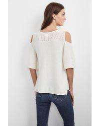 Velvet By Graham & Spencer   Multicolor Isley Cashmere Blend Cold Shoulder Sweater   Lyst