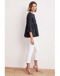 Velvet By Graham & Spencer - Multicolor Hanae Embellished Cotton Drape Jacket - Lyst