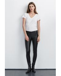 Velvet By Graham & Spencer - Black Berdine Faux Leather Leggings - Lyst