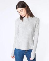 Veronica Beard - Gray Raleigh Peplum Sweater - Lyst