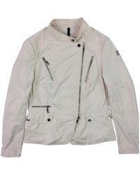 Moncler - Natural Beige Polyester Jacket - Lyst
