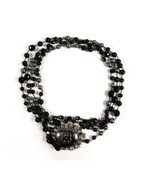 Chanel - Black Pre-owned Necklace - Lyst