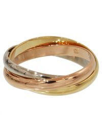 Cartier - Pre-owned Trinity Yellow Gold Ring - Lyst