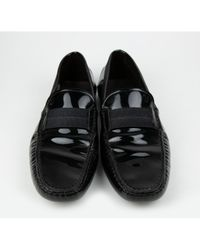Tod's - Pre-owned Black Patent Leather Flats for Men - Lyst
