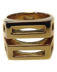 Chloé - Metallic Pre-owned Gold Metal Ring - Lyst
