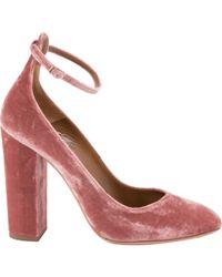 Aquazzura - Pink Velvet Heels - Lyst