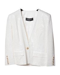 Balmain - Pre-owned White Cotton Jacket - Lyst