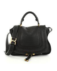 Chloé - Black Pre-owned Marcie Leather Handbag - Lyst