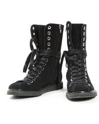 Alexander Wang - Black Leather Biker Boots - Lyst