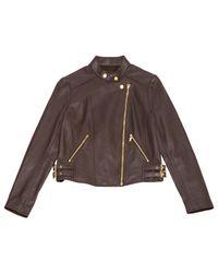 MICHAEL Michael Kors - Brown Leather Jacket - Lyst