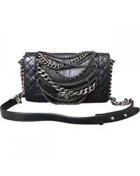 Chanel - Black Boy Leather Handbag - Lyst
