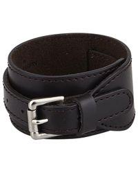 Louis Vuitton | Black Pre-owned Leather Bracelet for Men | Lyst