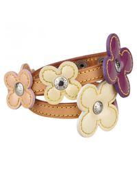 Louis Vuitton - Purple Pre-owned Patent Leather Bracelet - Lyst