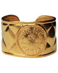 Chanel - Metallic Pre-owned Matelassé Bracelet - Lyst