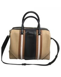 Givenchy - Natural Pre-owned Lucrezia Leather Handbag - Lyst