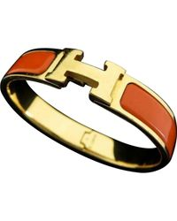 Hermès - Orange Pre-owned Clic H Bracelet - Lyst