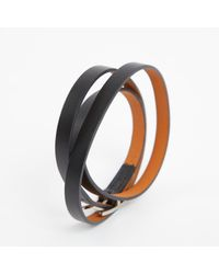 Hermès - Black Behapi Leather Bracelet - Lyst