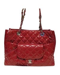 Chanel - Red Pre-owned Patent Leather Tote - Lyst