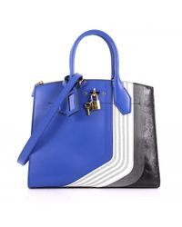 Louis Vuitton - Pre-owned City Steamer Blue Leather Handbag - Lyst