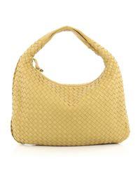 Bottega Veneta - Pre-owned Yellow Leather Handbag - Lyst