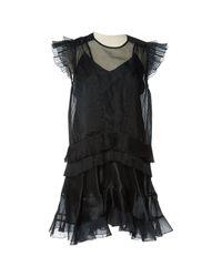 Isabel Marant - Black Pre-owned Silk Mini Dress - Lyst