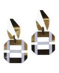 Hermès - Metallic Pre-owned Horn Earrings - Lyst