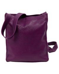 Hermès - Purple Pre-owned Leather Handbag - Lyst