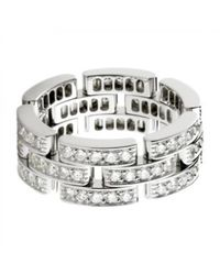 Cartier | Metallic Pre-owned Maillon Panthère White Gold Ring | Lyst