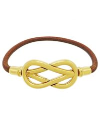 Hermès - Brown Pre-owned Leather Bracelet - Lyst