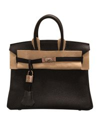 Hermès - Black Birkin 25 Leather Satchel - Lyst