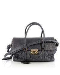 Louis Vuitton - Pre-owned Blue Leather Handbag - Lyst