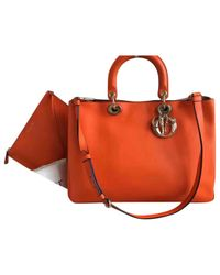 Dior | Orange Pre-owned Issimo Leather Tote | Lyst