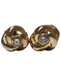 Cartier - Metallic Pre-owned Love Yellow Gold Earrings - Lyst