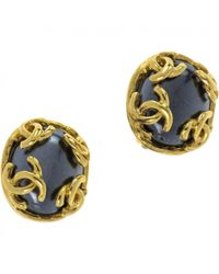 Chanel - Blue Pre-owned Earrings - Lyst