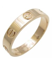 Cartier - Yellow Love Pink Gold Ring - Lyst