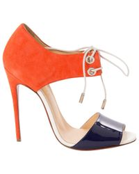Christian Louboutin - Orange Pre-owned Sandals - Lyst