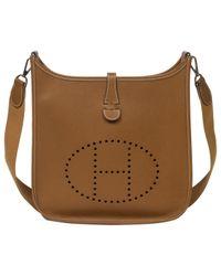 Hermès - Brown Pre-owned Evelyne Leather Handbag - Lyst