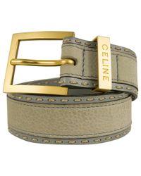 Céline - Blue Pre-owned Leather Belt - Lyst