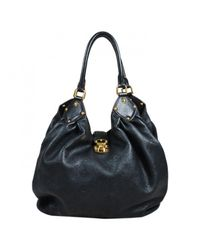 Louis Vuitton | Black Pre-owned Mahina Leather Handbag | Lyst