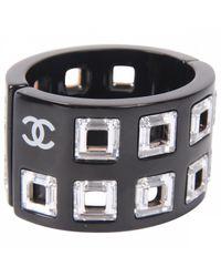 Chanel - Pre-owned Black Plastic Bracelet - Lyst