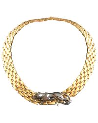 Cartier - Metallic Panthère Yellow Gold Necklace - Lyst