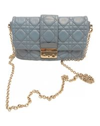 Dior | Blue Pre-owned Miss Leather Handbag | Lyst
