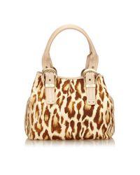 Dior - Brown Pre-owned Cloth Handbag - Lyst