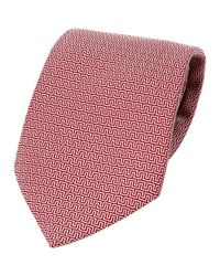 Hermès | Red Pre-owned Silk Tie for Men | Lyst