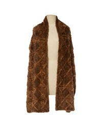 Dior - Brown Pre-owned Mink Stole - Lyst