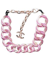 Chanel - Pink Pre-owned Necklace - Lyst
