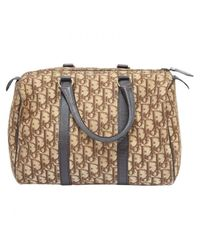 Dior - Brown Pre-owned Cloth Bowling Bag - Lyst
