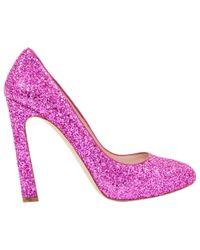 Miu Miu - Pink Glitter Heels - Lyst