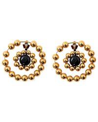 Marni - Metallic Gold Plastic Earrings - Lyst